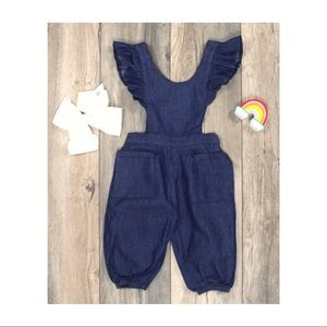 Other - Jean Ruffle Sleeve Romper
